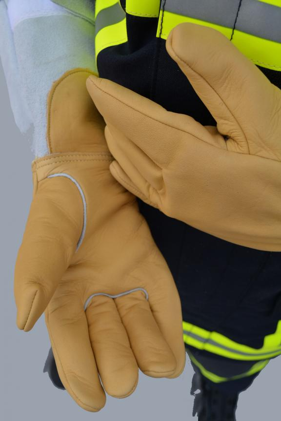 INTERVENTION LEATHER GLOVES FOR FIREFIGHTERS